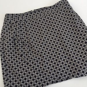 Banana Republic Print Lined Skirt Size 6